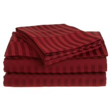 Vanessa 1500 Thread Count Microfiber Stripe Sheet Set