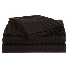 Vanessa 1500 TC Microfiber Stripe Sheet Set