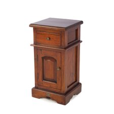 Mahogany 1 Drawer Bedside Table
