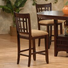 "<strong>Primo International</strong> 24"" Bar Stool with Cushion (Set of 2)"