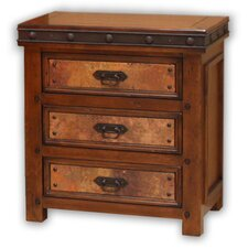 Copper Canyon 3 Drawer Nightstand