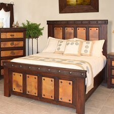 <strong>Artisan Home Furniture</strong> Copper Panel Bed