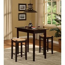 <strong>Linon</strong> Tavern 3 Piece Counter Height Dining Set