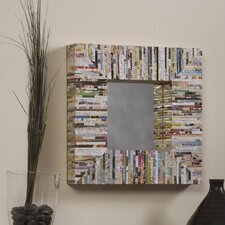 Magazine Silver Thread Square Mirror