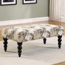 Claire Print Upholstered Bench
