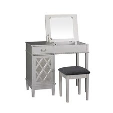 Lattice Vanity Set with Mirror