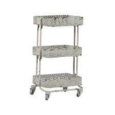 Pierced Metal 3 Tier Shelf