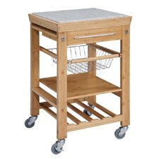 <strong>Linon</strong> Kitchen Cart with Granite Top