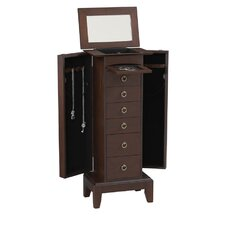 Amethyst Jewelry Armoire in Espresso