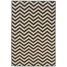 Salonika Grey Chevron Rug