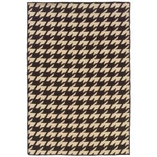 Salonika Brown Houndstooth Rug