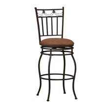 "<strong>Linon</strong> 24"" Swivel Bar Stool with Cushion"