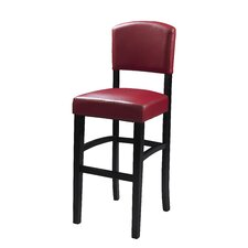 "<strong>Linon</strong> Monaco 24"" Bar Stool with Cushion"
