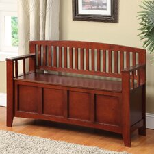 Cynthia Solid Wood Storage Entryway Bench