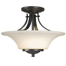 <strong>Feiss</strong> Barrington Semi Flush Mount in Oil Rubbed Bronze
