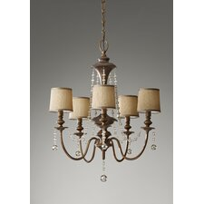 <strong>Feiss</strong> Clarissa 5 Light Chandelier