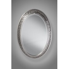Zara Mirror in Brushed Steel Mirror