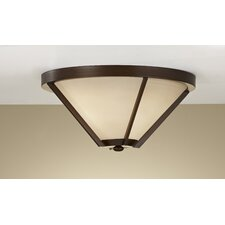 "Nolan 16"" 2 Light Flush Mount"