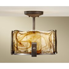 Aris 3 Light Semi Flush Mount
