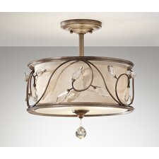 <strong>Feiss</strong> Priscilla 3 Light Semi Flush Mount