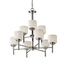 <strong>Feiss</strong> Malibu 9 Light Chandelier