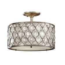 <strong>Feiss</strong> Lucia 3 Light Semi Flush Mount