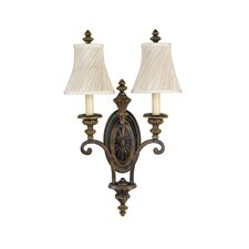 <strong>Feiss</strong> Edwardian 2 Light Candelabra Wall Sconce