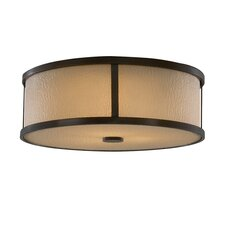 Preston 3 Light Flush Mount