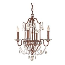 <strong>Feiss</strong> Gianna Scuro 4 Light Mini Duo Chandelier