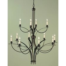 <strong>Feiss</strong> Boulevard 12 Light Chandelier