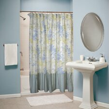 <strong>Greenland Home Fashions</strong> Coral Blue Shower Curtain