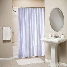 <strong>Greenland Home Fashions</strong> Ruffled White Shower Curtain