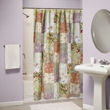<strong>Greenland Home Fashions</strong> Blooming Prairie Patchwork Shower Curtain