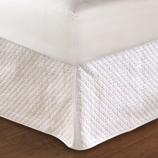 Diamond Cotton Quilted Bed Skirt