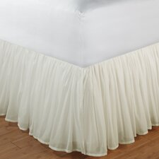 "Cotton Voile Bed Skirt 15"" Drop"