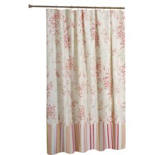 <strong>Greenland Home Fashions</strong> Coral Red Shower Curtain