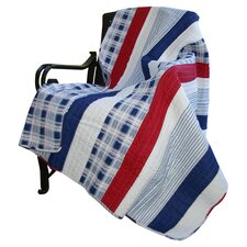 <strong>Greenland Home Fashions</strong> Nautical Stripe Cotton Throw