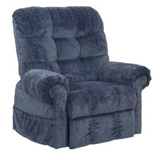 Omni Pow'r Lift Full Lay-Out Chaise Recliner in Black Pearl