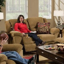 Transformer Chenille Reclining Loveseat