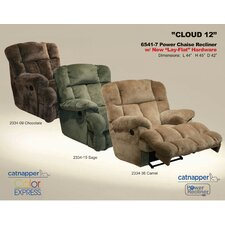General Leather Chaise Wall Hugger Recliner