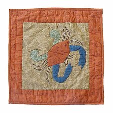 Beach Critters Crab Toss Pillow