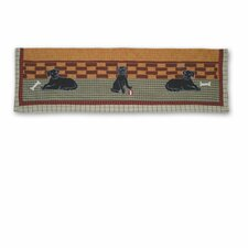 "Black Lab 54"" Curtain Valance"