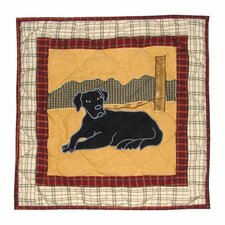 Black Lab Toss Pillow