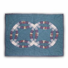 Blue Double Wedding Ring Standard Pillow Sham