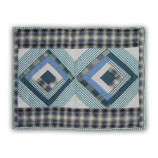 Blue Log Cabin Pillow Sham