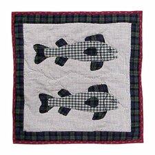 Cabin Fish Toss Pillow