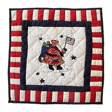 Colonial Santa Toss Pillow