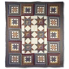 <strong>Patch Magic</strong> Cottage Star Cotton Throw Quilt