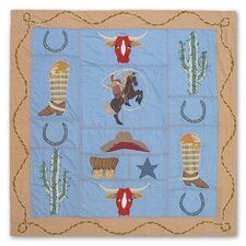 Cowgirl Cotton Shower Curtain