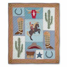 <strong>Patch Magic</strong> Cowgirl Cotton Throw Quilt